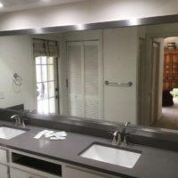 Large Highline slim framed mirror