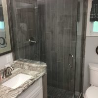 Neo Angle shower with Header
